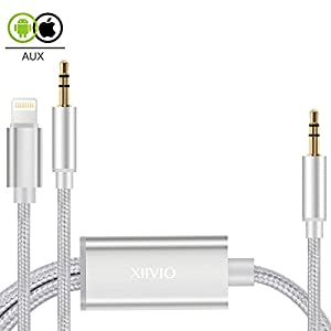 2 in 1 iPhone X Aux Cord, XIIVIO Lightning to 3.5mm Aux Stereo Audio Jack Adapter with Extension Headphone Auxiliary Splitter Cable for iPhone X / 8 / 8 Plus/7 /7 Plus,Android Smartphone to Car Stereo