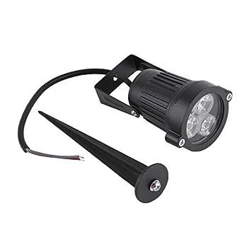 12 V LED Spike bombilla lámpara Spotlight jardín exterior ruta paisaje gratuito para montar en tu jardín pared césped estaño luz cuadrada cálida: Amazon.es: Iluminación
