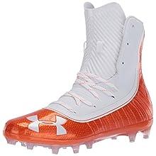 Under Armour Men's Highlight MC Football Shoe, Team Orange (800)/White, 14