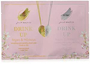 Fast Beauty Co. BFF Drink Up Smoothing Gold & Silver Face Masks With Argan & Hibiscus, 2 units