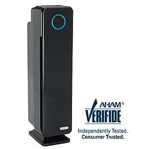 GermGuardian AC5350B 28-inch 4-in-1 True HEPA Filter Air Purifier for Homes, Large Rooms, Allergies, Smoke, Dust, Dander, Pollen & Odors  UV-C Light Kills Germs   5-Yr Warranty   Germ Guardian   Black