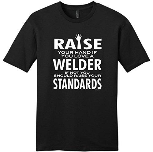 Love a Welder If Not Raise Your Standards Young Mens T-Shirt XL Black