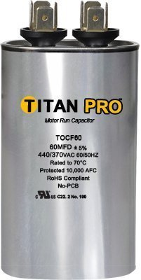 Packard TOCFD2575 Titan Pro Motor Run Capacitor 25+7.5MFD 440/370V OVAL Capacitor by Packard