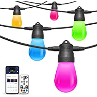 Govee 24ft LED String Lights with 6 Bulbs RGB Dimmable Warm White