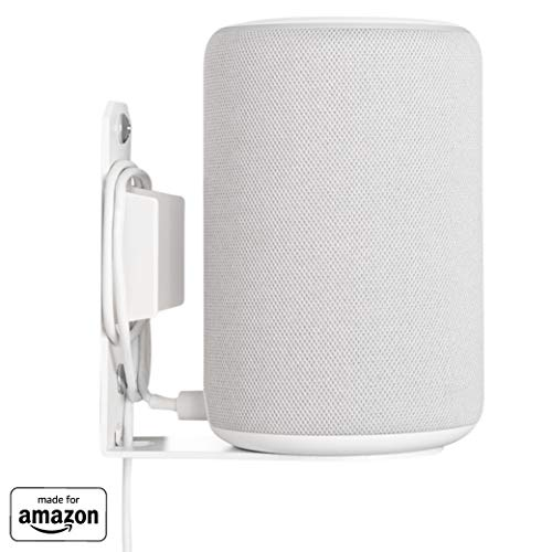 """""""Made for Amazon"""" Wall Mount for Echo (2nd Gen or 3rd Gen) and Echo Plus (2nd Gen) - White"""