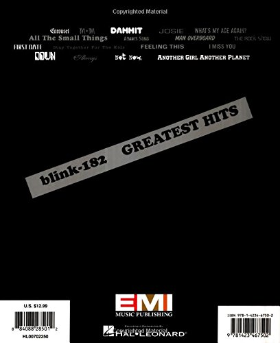 Amazon Blink 182 Greatest Hits Easy Guitar With Notes Tab