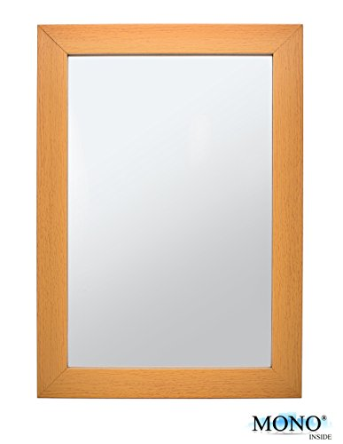 MONOINSIDE Small Framed Decorative Wall Mounted Mirror, 13