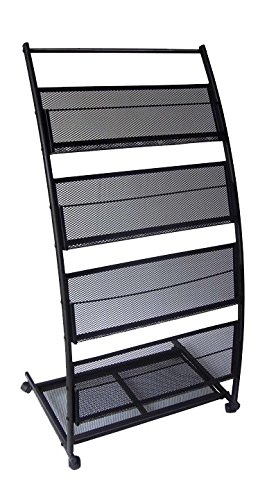 - Mobile Literature Magazine Rack Brochure Holder 4 shelf