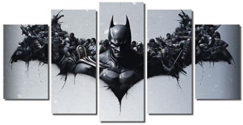 Picture Sensations Framed Canvas Art Print, Batman DC Comics Super Hero, Joker Print, Batman Art, Batman Wall Canvas Art - (Batman Art Print Poster)