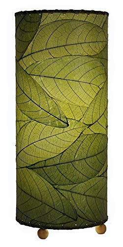 Eangee Contemporary Cocoa Leaf Indoor Table Lamp, Green