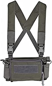 Camouflage Quick Release Tactical Vest Airsoft Ammo Chest Rig 5.56 9mm Magazine Carrier Combat Tactical Milita