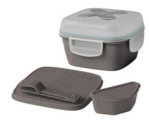 IKEA gris caja de almuerzo de ensalada: Amazon.es: Hogar