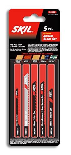 Skil 94905, 5 Piece U-Shank Jigsaw Blade Set, Genereal Purpo