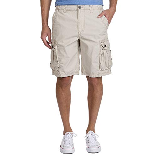 UNIONBAY Men's Lightweight Fresh Twill Drawcord Cargo Short, Sand, 34 by UNIONBAY