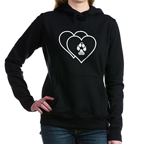 CafePress - Two Hearts Love Animals Logo Women's Hooded Sweats - Pullover Hoodie, Classic & Comfortable Hooded (Animal Logo Sweatshirt)