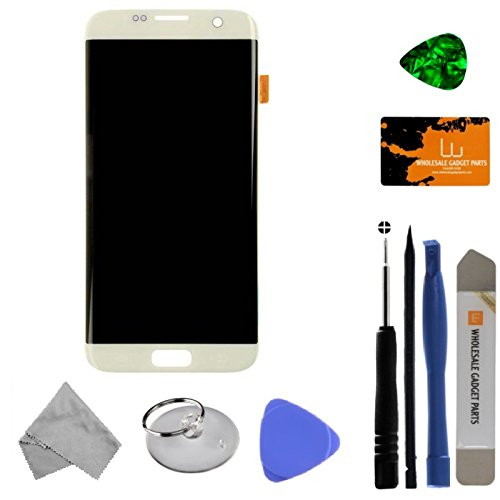 LCD & Digitizer Assembly for Samsung Galaxy S7 Edge (White Pearl) (Aftermarket - Without Samsung Logo) with Tool Kit by Wholesale Gadget Parts