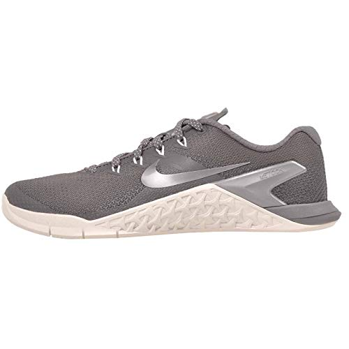 NIKE Women's Metcon 4 Training Shoes (7.5, Gunsmoke/White-M)
