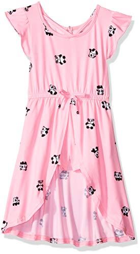One Step Up Girls' Toddler Romper Maxi Dress, Pink Panda, 4T