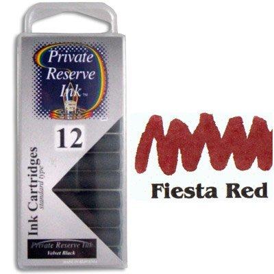 Private Reserve Refills Fiesta Red 12-pack Fountain Pen Cartridge - PR-C09