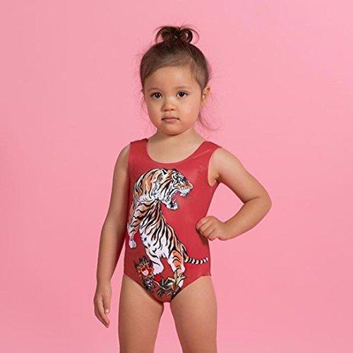 f12a8fd8d971 KONFA Teen Toddler Baby Girls Tiger Print Swimwear Rompers