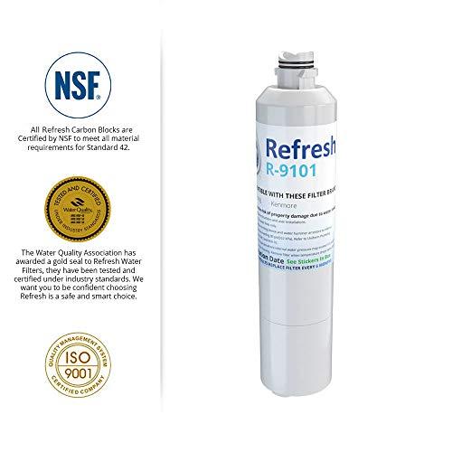Fits Samsung RS25J500DBC Refrigerators 6 Pack Aqua Fresh Water Filter