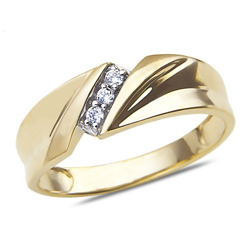 Men's Diamond Accent Wedding Band in 10k Yellow Gold