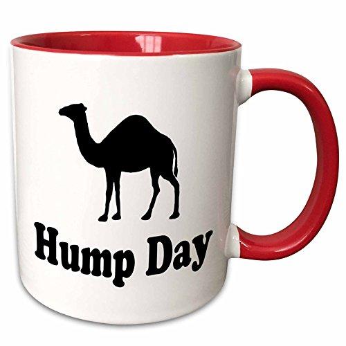 3dRose EvaDane - Funny Quotes - Hump Day - 11oz Two-Tone Red Mug (mug_159637_5)