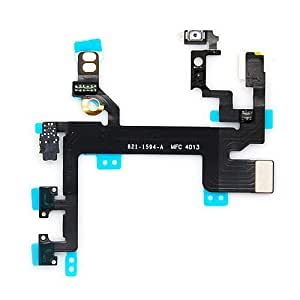 Power On/off Mute Volume Button Switch Connector Flex Cable Ribbon for iphone 5c WANGJING JINDA