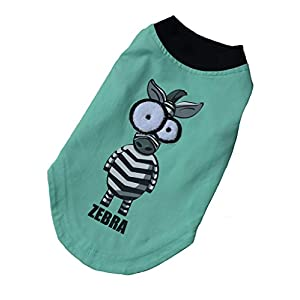Dog Shirts for Small Dogs in Summer - Tee Shirts in 100% Cotton & Sleeveless Style,Water Blue Size L