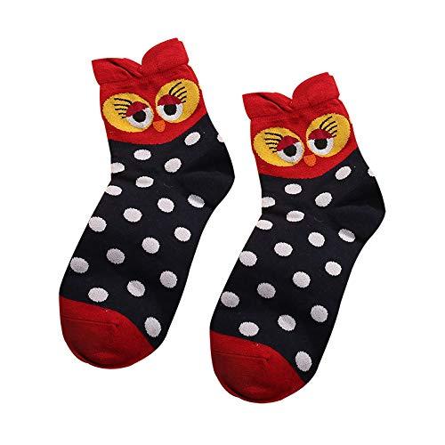 QH-shop Calcetines de Mujer Coloreados Algodón Calcetines Patrón de Búho Adulto Unisex Calcetines Térmicos 5 Pairs: Amazon.es: Ropa y accesorios
