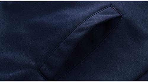 TENGGO Mens Sports Set Verdicken Kapuze Wintermantel Sportswear Laufanzug Zip Up Hoodies-Marine-2XL Grau