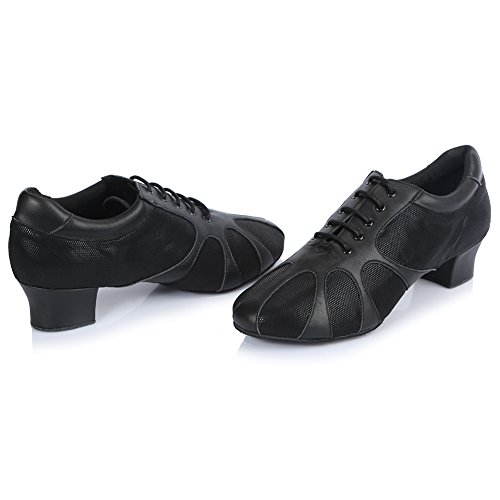 Black Shoes Men's Shoes 2 Ballroom Waltz Professional Dance Latin Performance Jazz Tango Roymall wqPxg6Ux