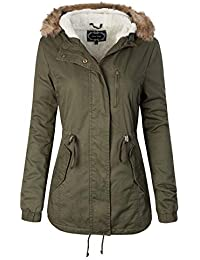 Womens Anorak Safari Hoodie Jacket up to Plus Size