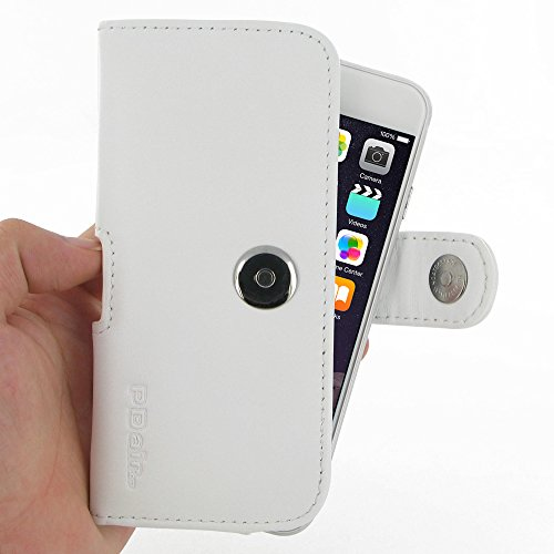 "Apple iPhone 6 (4.7"") Leather Case / Cover Protective Carrying Phone Case / Cover (Handmade Genuine Leather) - Horizontal Pouch Case (White) by Pdair"