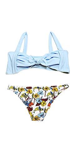 Top da Bagno due Push Bikini Pezzi MEMORY Azzurro Costume Imbottito Set Donna Beachwear Sexy up BABY nwSZAHqpC