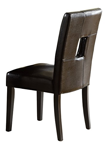 Homelegance 3270-S1BK Bi-Cast Vinyl Side Chair, Black, Set of (Cast Seat Side Chair)