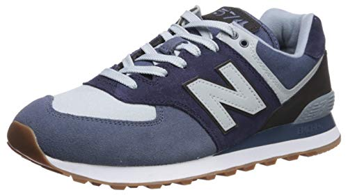 (New Balance Men's Iconic 574 Sneaker, Vintage Indigo/Black, 9 D US)