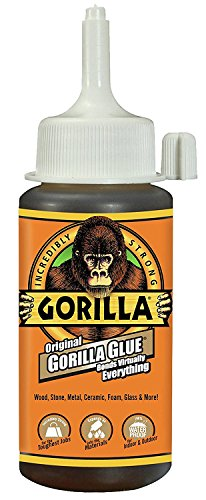 Gorilla Original Gorilla Glue, 4 oz., Brown With 10 Disposable Latex Finger Cots Rubber Fingertips by Baby Galore (Image #1)