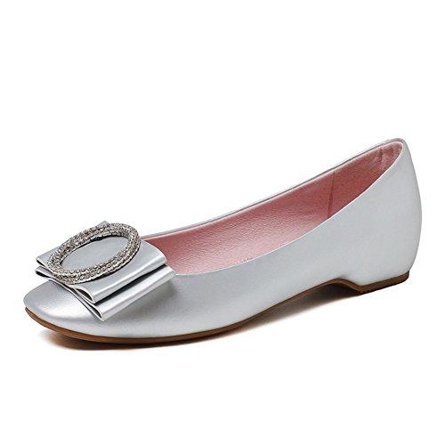 Señora TOU Shui diamante zapatos/boca dulce/bajo arco zapatos de cuñas A