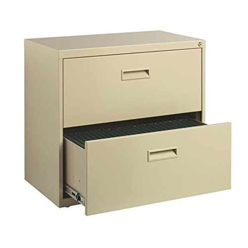Hirsh SOHO 2 Drawer Lateral File Cabinet in Putty, Fully Assembled by Hirsh Industries