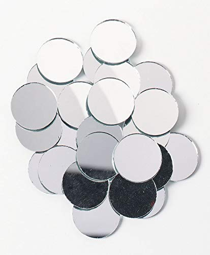 Darice 25-Piece Big Value, Round mirror, 1-Inch (Mirror Arts And Crafts)