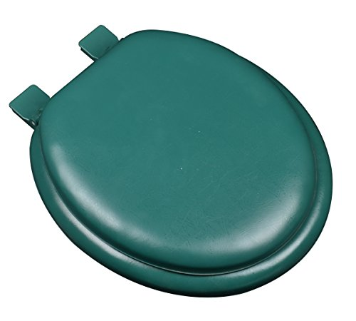 Bath D Cor 6F1r2 60 Premium Soft Round Closed Front Toilet Seat With Extra Heavy Duty Solid Wood Core  Forest Green