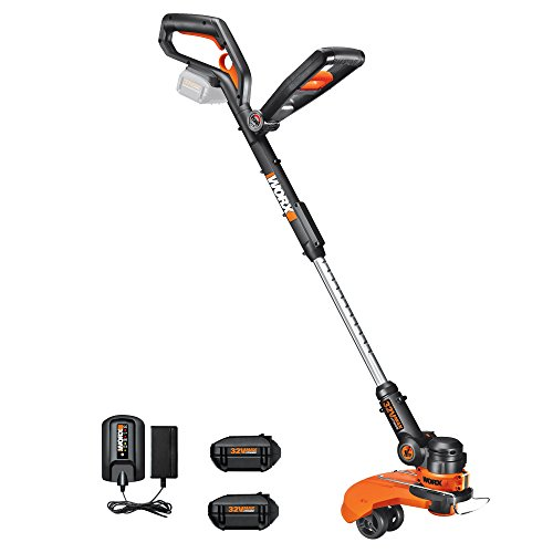 WORX WG175.1 32-Volt GT2.0 String Trimmer Trimmer/Edger/Mini-Mower with 2 Batteries and Charger Included