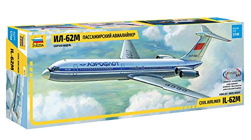 Zvezda Models Ilyushin IL-62M Civil Airliner Model Kit