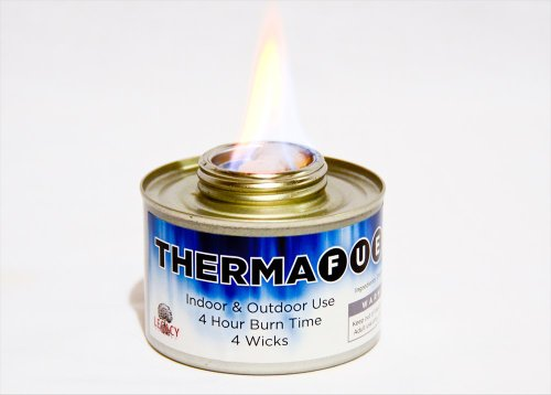Therma-Fuel Indoor/Outdoor Emergency Flame- 20+ Year Shelf Storage Life- 4 Hour Hot Burn/Can- Survival Heat, Light