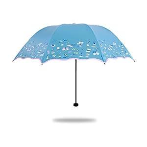 SBBCW Los Viajes La Creatividad La Protección UV Sol Tres Veces El Sol La Lluvia O Con Sol Un Paraguas Plegable
