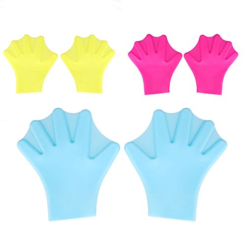 LISRUI Silicone Swimming Webbed Gloves Training Paddle Palm for Adults Water Sports 1Pair from LISRUI