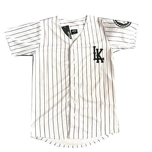 AIFFEE Men's Hiphop Baseball Jersey #07 KINGIN S-XXL White Color Stitched Letter an Number (M) (Shirt Last Kings Women For)