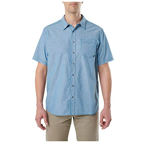 5.11 Tactical Men's Ares Short-Sleeve Casual Button-Down Polo Shirt, Cotton, Style 71372