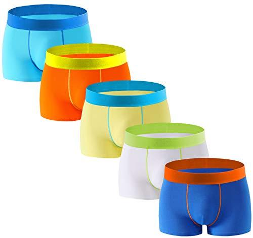 - Aserlin Men's Underwear Boxer Briefs 5 Pack Cotton No Ride-up Sport Underwear-S-5Qian-L